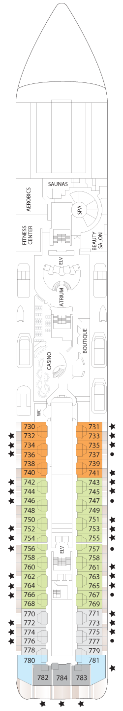 Seven Seas Mariner Deck Seven