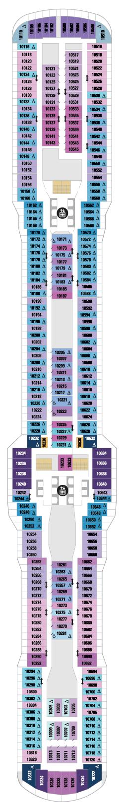 Spectrum of the Seas Deck 10