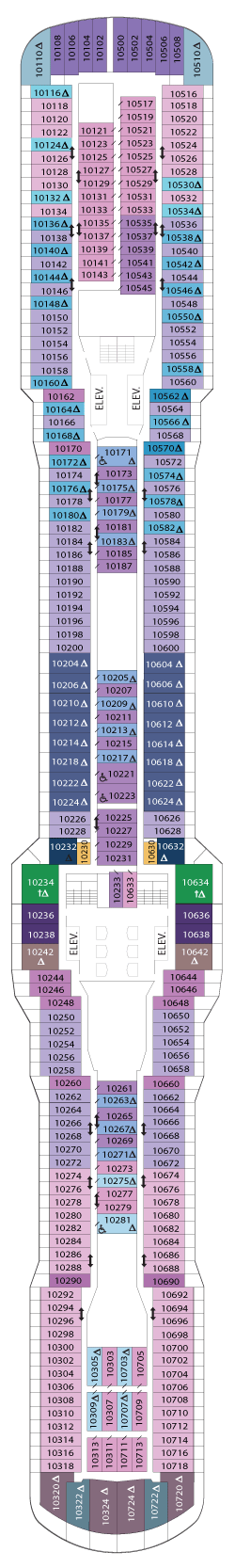 Ovation of the Seas Deck 10