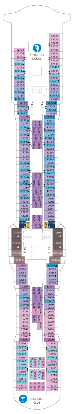 Ovation of the Seas Deck 12