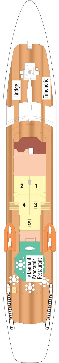 Le Ponant Antigua Deck