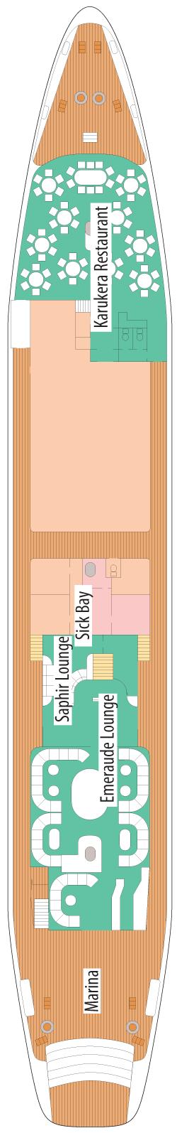 Le Ponant Saint-Barth Deck