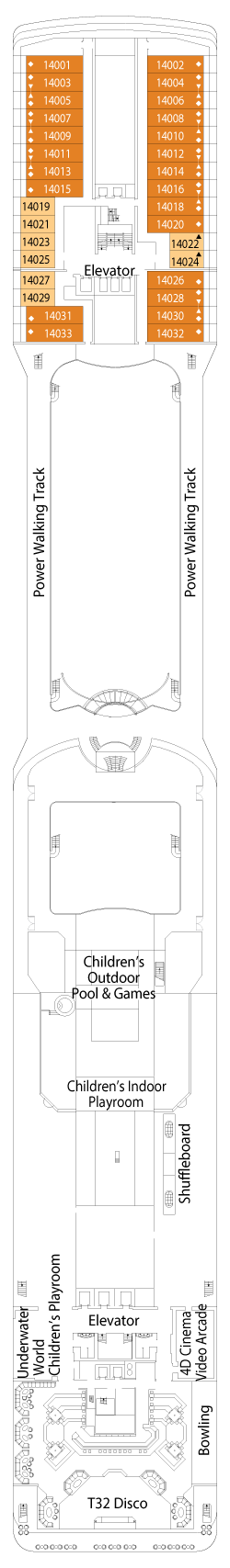 MSC Magnifica Deck 14