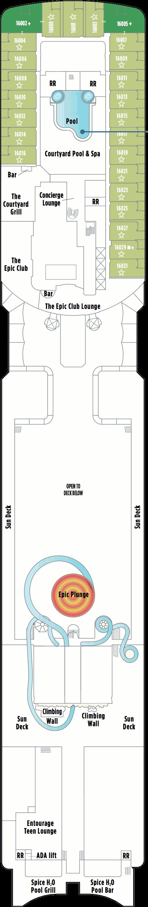 Norwegian Epic Deck 16