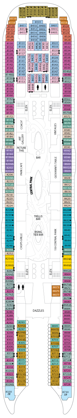 Oasis of the Seas Deck 8